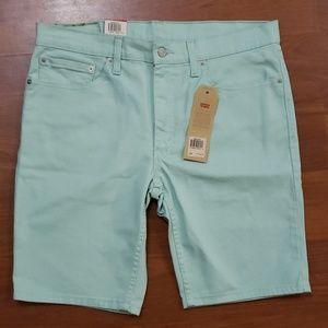 Levi's 511 Shorts pastel green NWT